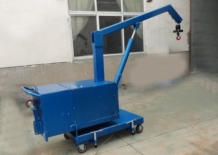 手推式微型吊车:占地1平方米多